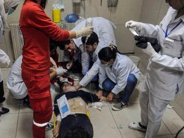 Heridos atendidos en Damasco