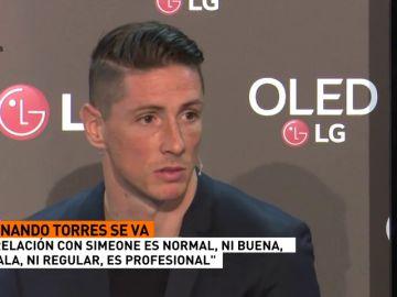"""Torres: """"Mi relación con Simeone no es ni buena ni mala, es noraml y profesional"""""""