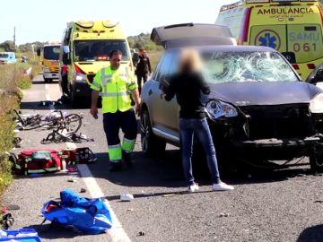 A la conductora que atropelló a un grupo de ciclistas en Mallorca le habían retirado el carnet