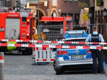 La policía alemana en la zona del atropello múltiple en Münster