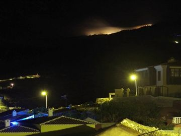 Incendio en un paraje natural de Tenerife