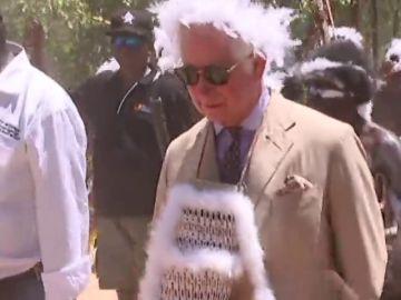 Una tribu australiana recibe con un homenaje indígena al príncipe Carlos de Inglaterra