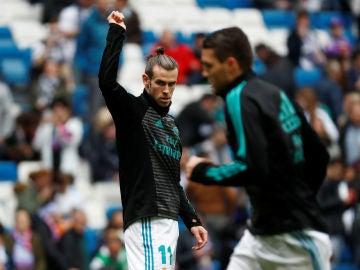 Bale, durante un calentamiento