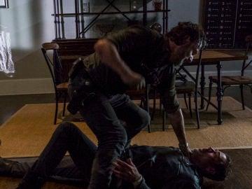 Andrew Lincoln y Jeffrey Dean Morgan en 'The Walking Dead'