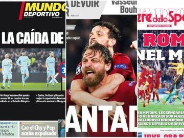 Las portadas de los principales medios deportivos tras la debacle del Barcelona