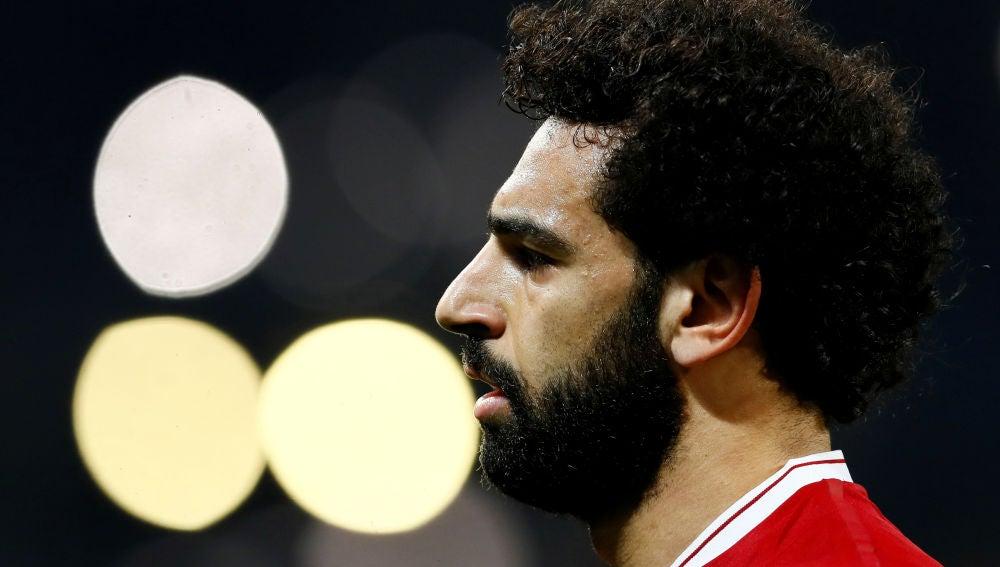 Salah, durante un partido con el Liverpool