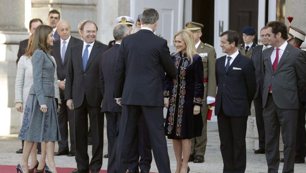 Recepción del presidente de Portugal