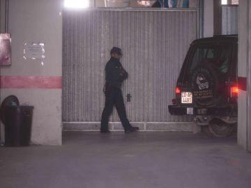 Garaje de Priego de Córdoba (Córdoba) donde fueron hallados los cadáveres