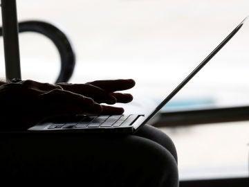 Una persona usa su ordenador