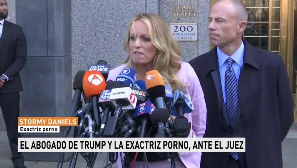 El abogado de Trump y la exactriz porno ante el juez