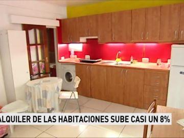 El alquiler de las habitaciones sube casi un ocho por ciento