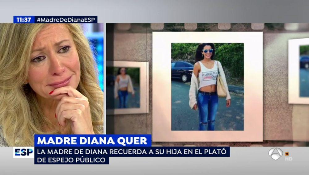 Antena 3 tv la madre de diana quer rompe a llorar en el for Espejo publico diana quer