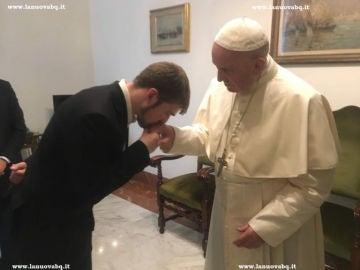 Toms Evans y el Papa Francisco