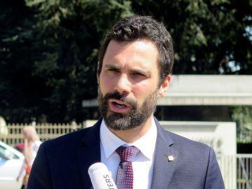 El presidente del Parlamento catalán, Roger Torrent, en Ginebra
