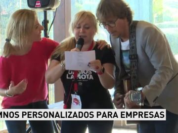 Un productor musical vende himnos personalizados para empresas
