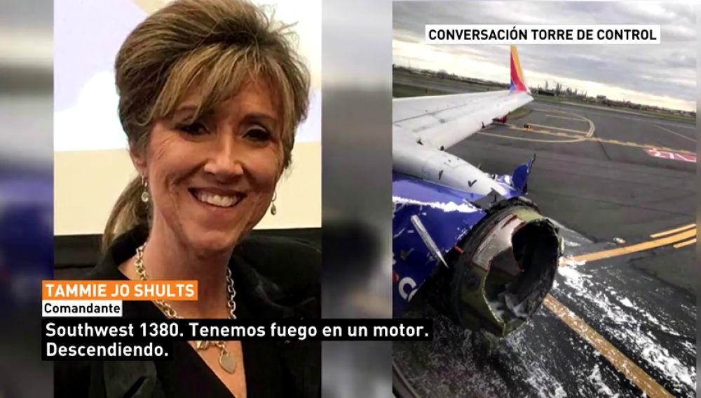 Muere una persona tras el aterrizaje de emergencia de un avión en Filadelfia tras reventarse su motor izquierdo en pleno vuelo