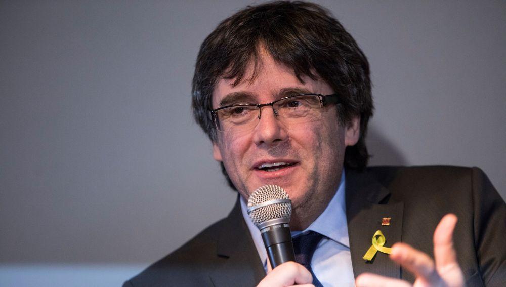 El expresidente catalán Carles Puigdemont en Berlín (Alemania