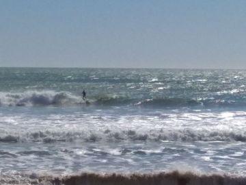Kitesurfista en Cádiz