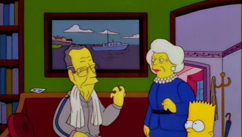 El matrimonio Bush en 'Los Simpson'