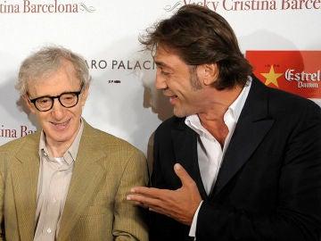 Javier Bardem junto a Woody Allen
