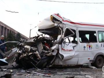 Ocho muertos en un accidente de tráfico en Ucrania