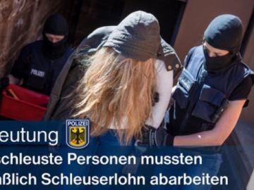 Imagen publicada por la policía alemana tras la operación llevada a cabo contra la prostitución