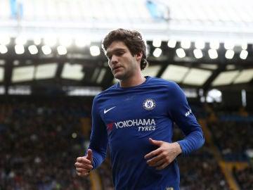 Marcos Alonso, durante un partido con el Chelsea