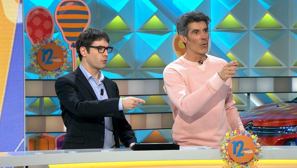Juanra Bonet le roba el puesto a Jorge Fernández y Laura Moure en 'La ruleta de la suerte'