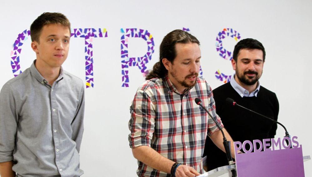 Iglesias, Errejón y Espinar