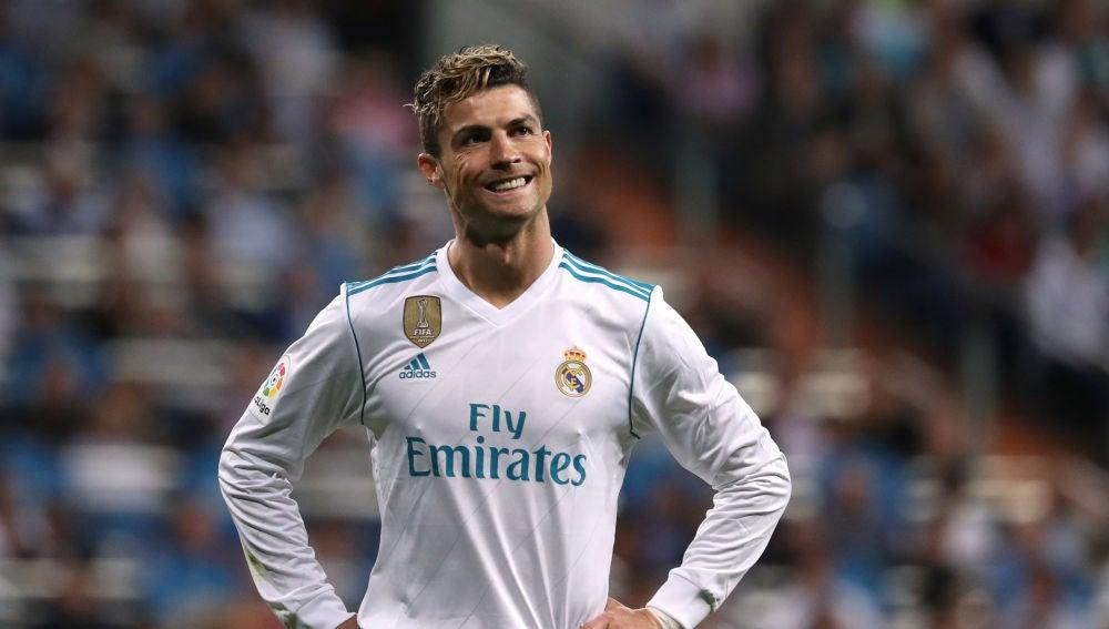 Cristiano Ronaldo, durante un partido con el Real Madrid