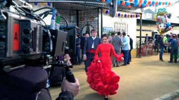 Los secretos del impresionante vestido de flamenca de Carmen en 'Allí Abajo'