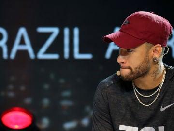 Neymar, durante un acto