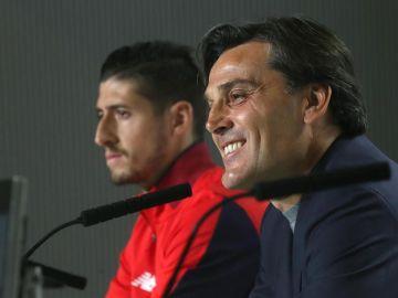 Vincenzo Montella en rueda de prensa