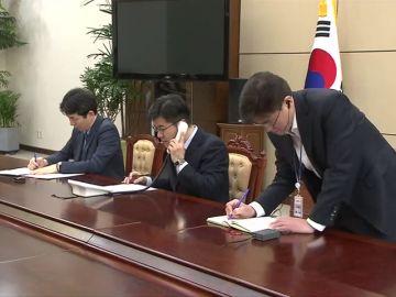 Teléfono rojo entre las dos Coreas
