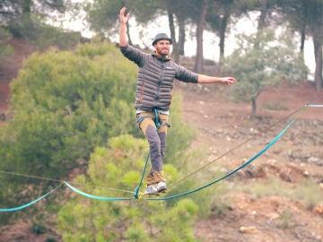 """Fernando Gracia, un hiperactivo concursante que vive """"en la cuerda floja"""""""