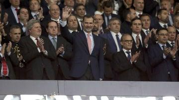 Felipe VI, en el palco del Wanda Metropolitano