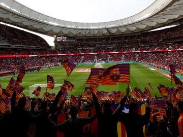 Estadio Wanda Metropolitano en la final de la Copa
