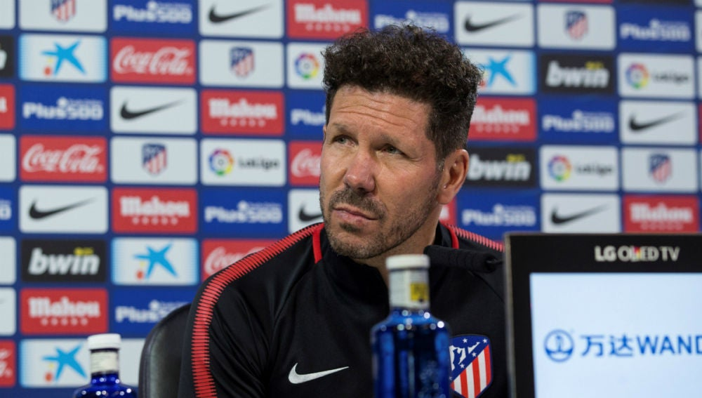 Diego Simeone, en rueda de prensa