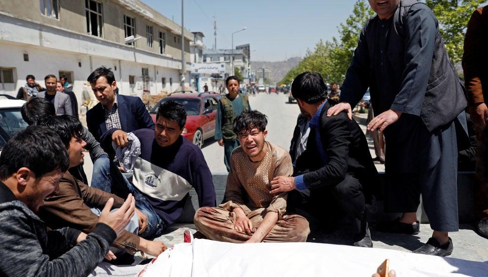 Imagen del atentado en Kabul