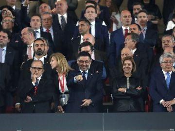 Bartomeu, en el palco del Metropolitano durante la final de la Copa del Rey