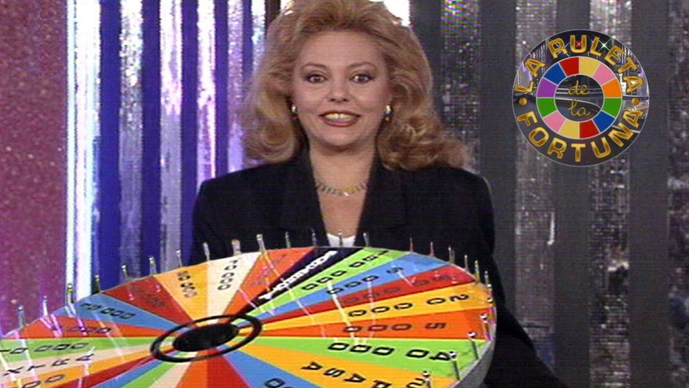 La primera emisión de 'La ruleta de la fortuna' presentado por Mayra Gómez Kemp en 1990