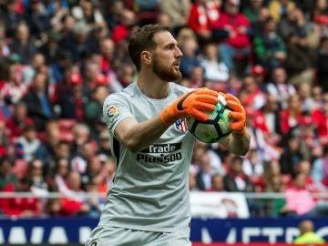 Jan Oblak, en un partido del Atlético de Madrid