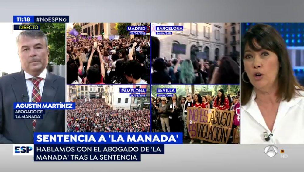 """La bronca monumental entre el abogado de 'La Manada' y Mabel Lozano: """"No les vuelva a llamar violadores"""""""