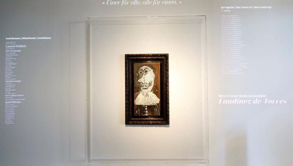 La obra 'Cabeza de mosquetero' del artista español Pablo Picasso