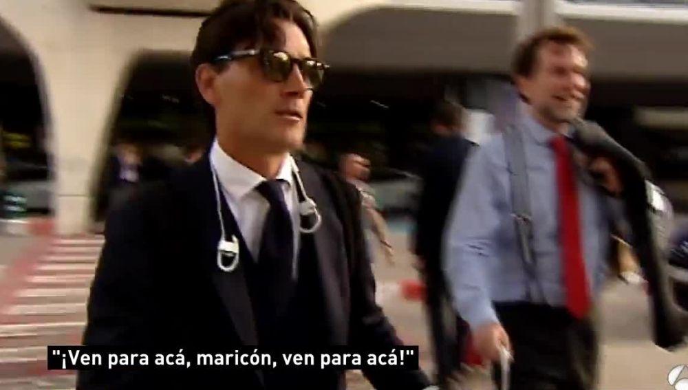 Insultos a Montella a su llegada a Valencia