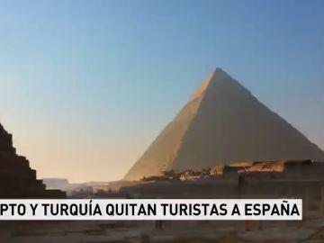Egipto y Turquía quitan turistas a España