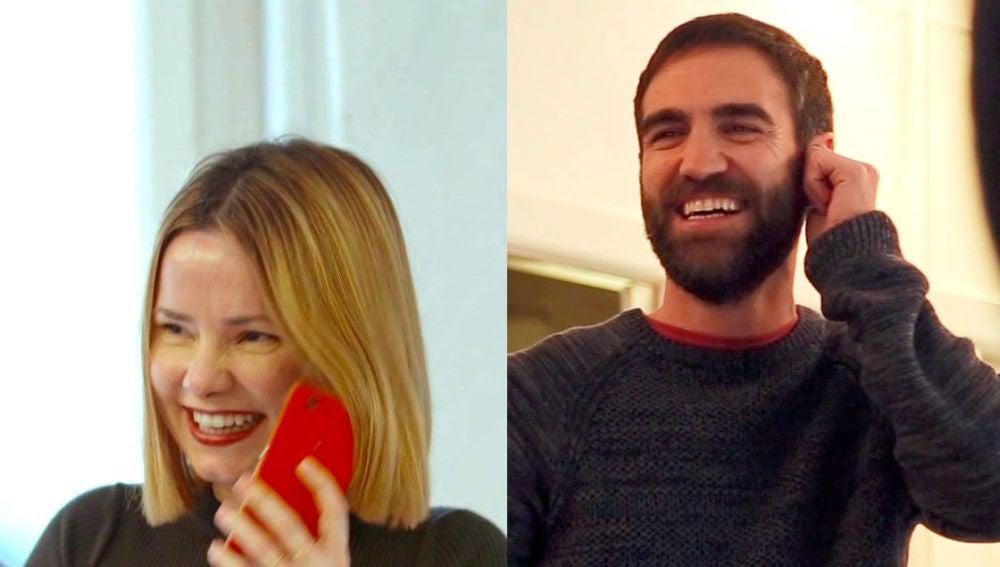 Zuriñe e Iñaki, risas incontrolables en las grabaciones con la cuadrilla