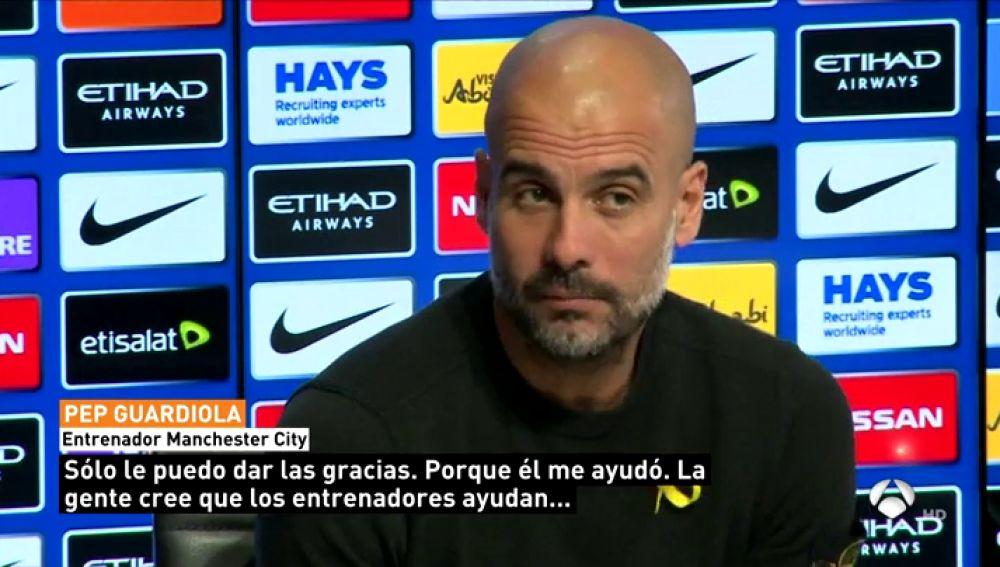 """Guardiola, sobre el adiós de Iniesta: """"Quiero darle las gracias, él me ayudó a entender mejor el fútbol"""""""