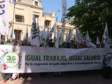 Los funcionarios de la administración general del Estado han vuelto a salir a la calle en toda España