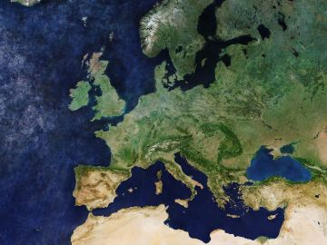 Toda Europa libre de nubes, en este mosaico del Sentinel 3A